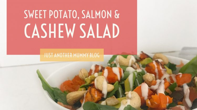 My Fave Easy Lunch: Sweet Potato, Salmon & Cashew Salad