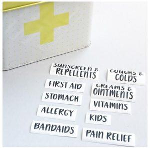 medicine cabinet labels