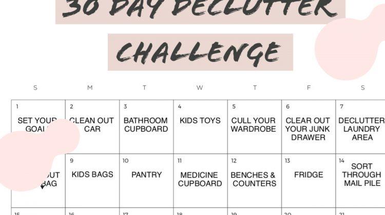 30 DAY DECLUTTER CHALLENGE 2019
