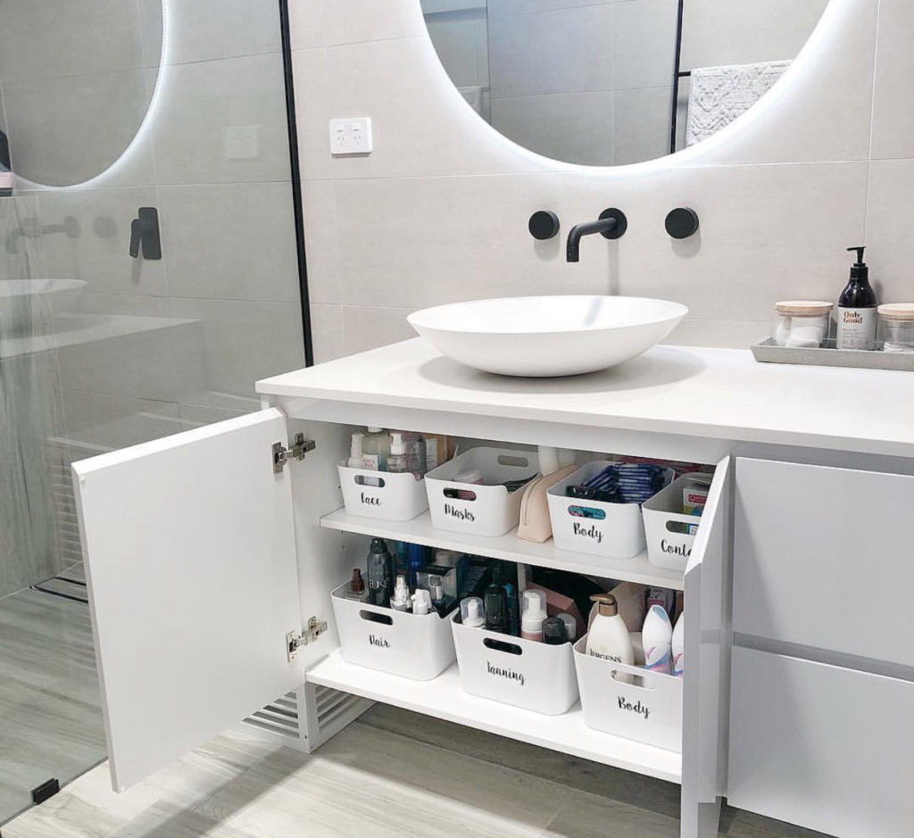 Our Ensuite Organisation How To Organise Your Bathroom Just