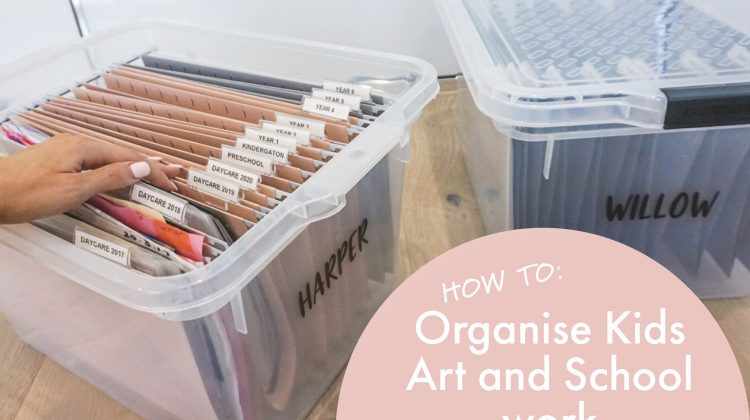 How to Organise + Store your Kids Artwork and School Documents