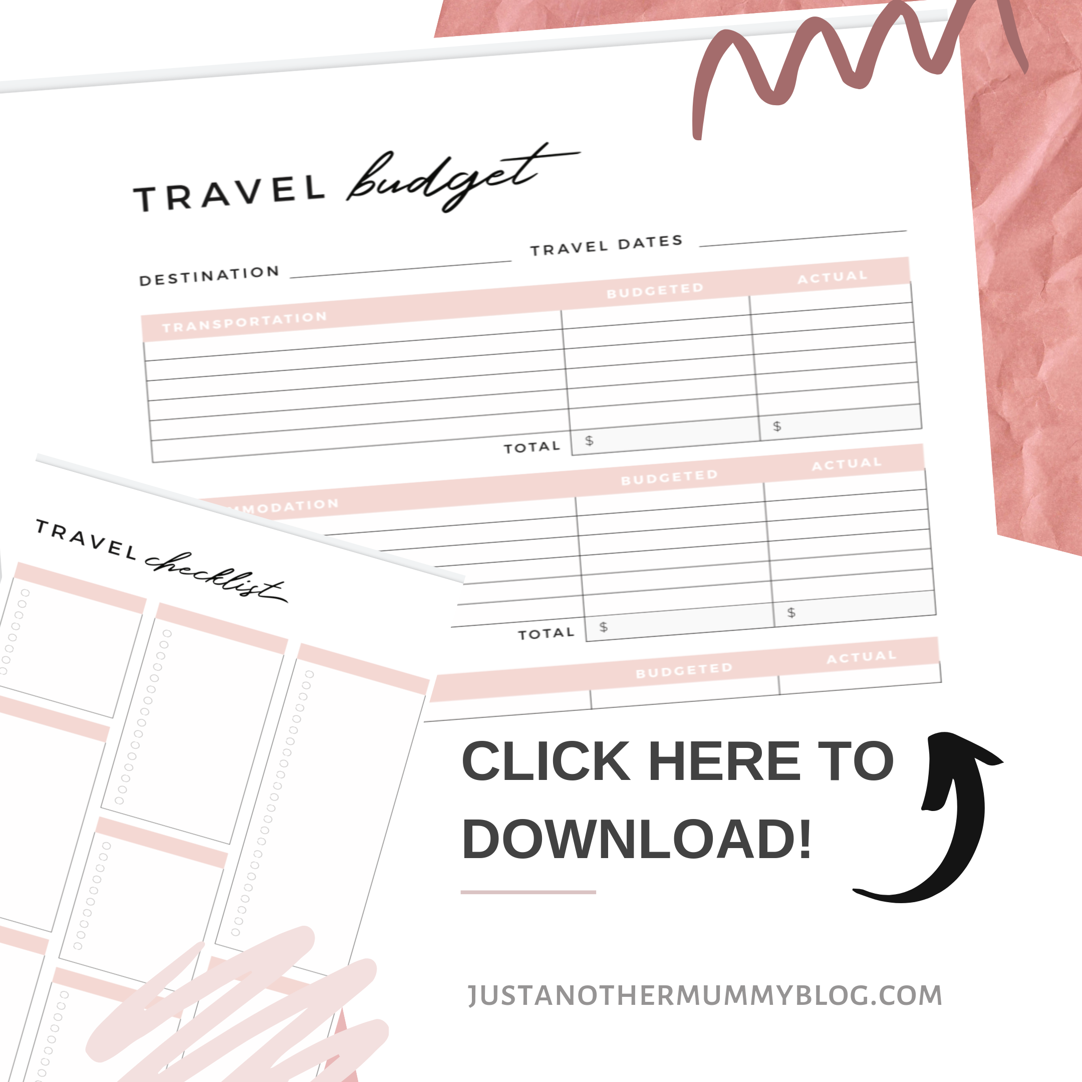Travel Checklist and Budget Template - Just Another Mummy Blog
