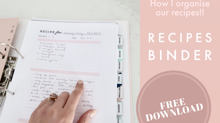 How to Organise your Recipes + FREE Download Recipe Cover and Template